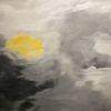 Vollmond, Dramatisch, Acrylmalerei, Malerei
