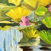 Teich, Acrylmalerei, Seerosen, Malerei