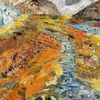 Acrylmalerei, Landschaft, Vulkan, Malerei