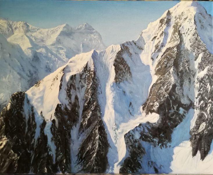 Schnee, Realismus, Schatten, Licht, Berge, Fotorealismus