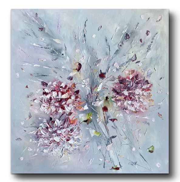 Pflanzen, Hortensien, Ölmalerei, Malerei, Blumen, Herbst