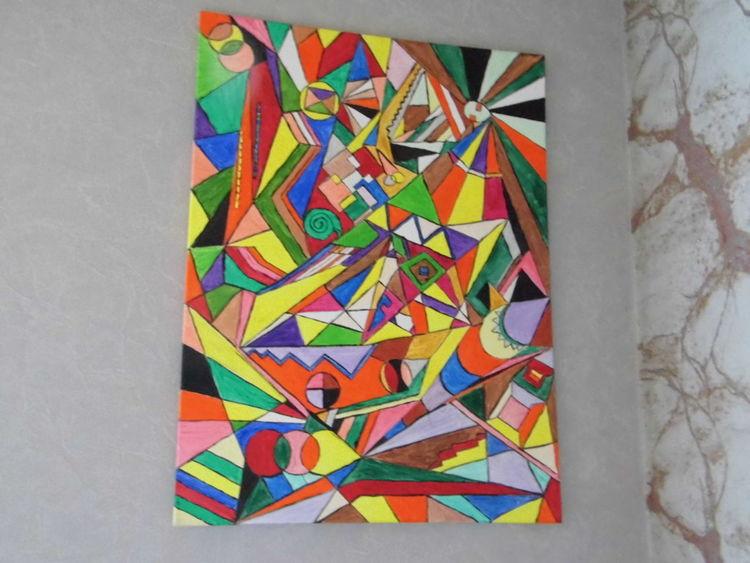 Leben, Freude, Farben, Acrylmalerei, Malerei