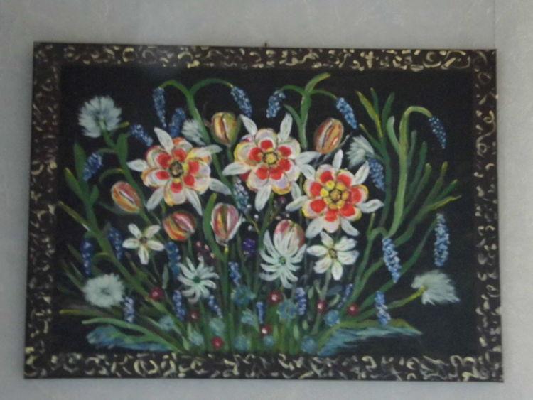 Natur, Freude, Bauernmalerei, Bayer, Acrylmalerei, Malerei