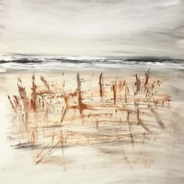 Meer, Abstrakt, Acrylmalerei, Strand, Malerei