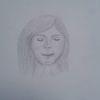 Frau, Portrait, Bleistiftzeichnung, Menschen