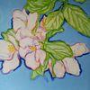 Blüte, Blumen, Apfel, Malerei