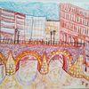 Hamburg, Farben, Stadt, Zeichnungen