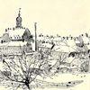 Kleinstadt, Winter, Iger jahre gezeichnet, Sächsisch