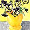Martha krug, Garten, Stiefmütterchen, 1981 gemalt