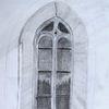 Gotik, Fenster, Bleistiftzeichnung, Architektur