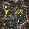 Spachteltechnik, Acrylmalerei, Malerei abstrakt, Bunt