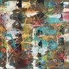 Bunt abstrakt, Abstraktes gemälde, Spachteltechnik, Abstrakte malerei