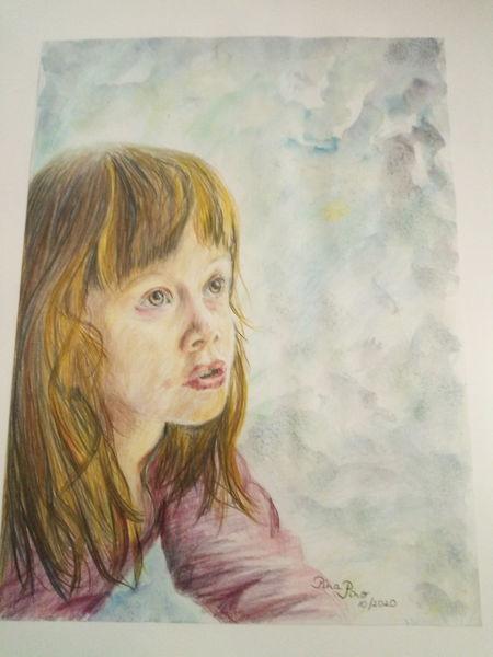 Mädchen, Portrait, Zeichnungen