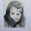 Mädchen, Lächeln, Portrait, Aquarell