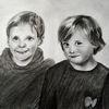Mädchen, Portrait, Junge, Zeichnungen
