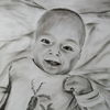 Baby, Portrait, Lächelnd, Zeichnungen