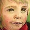 Portrait, Kleinkind, Malerei