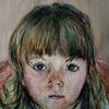 Portrait, Mädchen, Aquarellmalerei, Aquarell