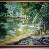 Malen, Natur, Sommer, Teich