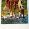 Pferde, Wasser, Wiese, Malerei