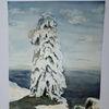 Winter, Schnee, Inspirieren, Aquarell