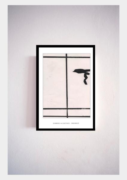 Zeitgenössisch, Modern, Zeichnung, Malerei, Design, Schwarz