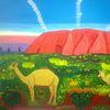 Abstrakte malerei, Landschaft, Tiere, Malerei