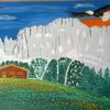 Berghütte, Berge, Bergpanorama, Adler