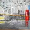 New york, Brooklyn bridge, Skyline, Brücke