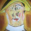 Abstrakte malerei, Portrait, Fantasie, Alter mann