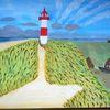 Leuchtturm, Abstrakte malerei, Natur, Wasser