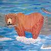 Comic, Abstrakte malerei, Tiere, Bär