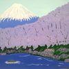 Berge, Abstrakte malerei, See, Natur