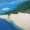 Natur, Landschaft, Steilküste, Abstrakte malerei