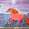 Abstrakte malerei, Comic, Landschaft, Malerei