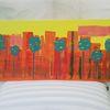 Landschaft, Baum, Skyline, Abstrakte malerei