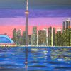 Stadt, Skyline, Abstrakte malerei, Landschaft