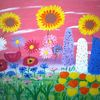 Fantasie, Blumen, Abstrakte malerei, Malerei