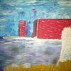 Fantasie, Abstrakte malerei, Landschaft, Malerei