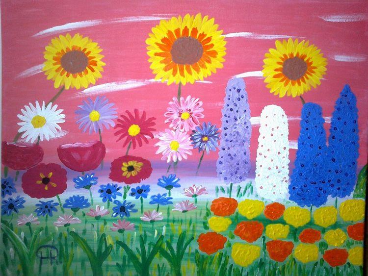 Blumen, Abstrakte malerei, Fantasie, Malerei
