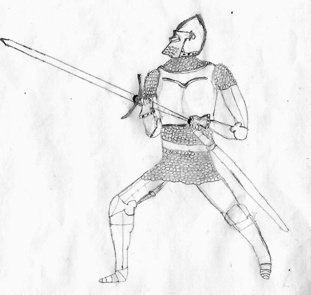 Ritter, Helm, Langschwert, Visier, Mittelalter, Schwert