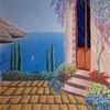Haus, Mediterran, Meer, Sommer
