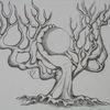 Hand, Baum, Kugel, Zeichnungen