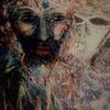 Berührungsangst, Gesicht, Maske, Malerei