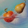 Stillleben, Früchte, Rot, Ölmalerei