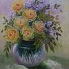 Blüte, Flieder, Rund, Malerei