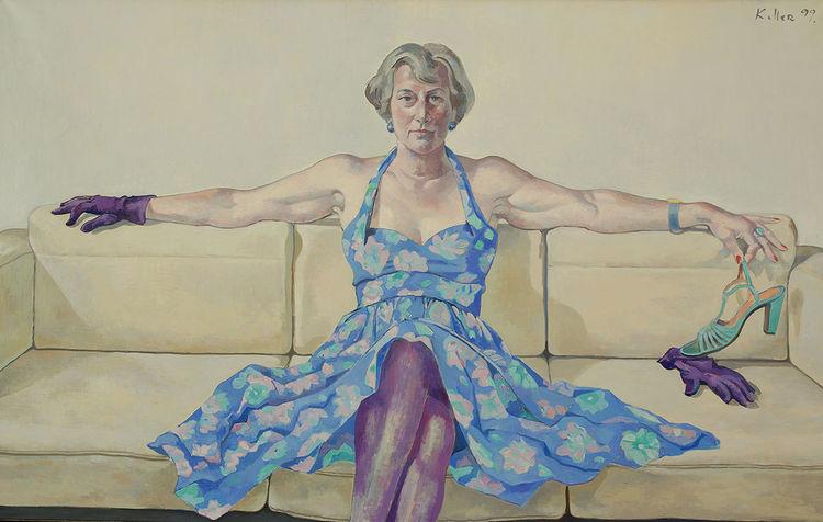 Menschen, Komposition, Ehe, Portrait, Figurativ, Ölmalerei