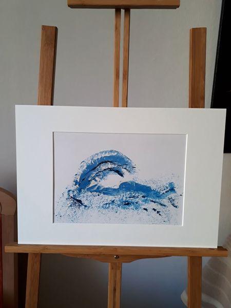 Menschheit, Die welle, Ozean, Abstrakte kunst, Kreativ, Passepartout