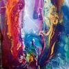 Fluss, Abstrakt, Malerei