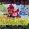Vogel, Domestizierung, Enkaustik, Malerei